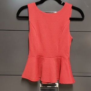 Wet seal red peplum tops size small